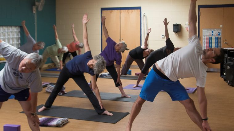 YWCA Yoga Group Fitness Class