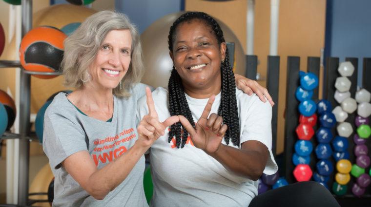 Two YWCA women make a