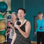 Women workout in a Group Fitness Class at the YWCA Asheville Gym